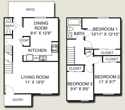 Awesome Two Story Apartment Floor Plans Images - Best Image Engine ...