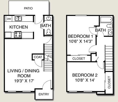 Small Two Story Apartment Floor Plans
